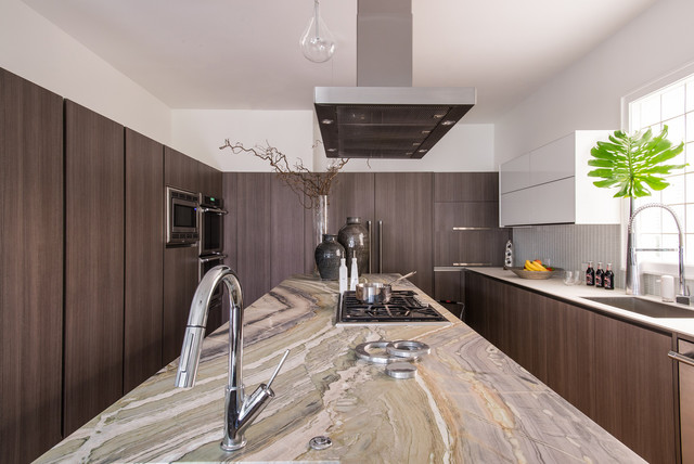 Contemporary River Jade Kitchen Island  Contemporary  Kitchen  by