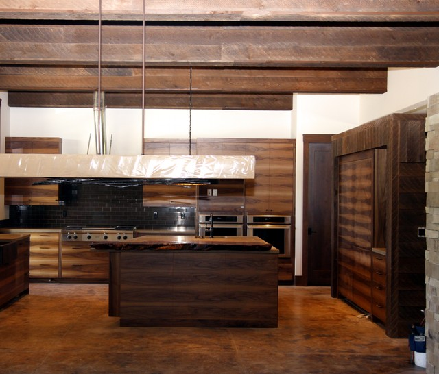 Contemporary Rustic Design Colorado Eclectic Kitchen Denver By Montana Timber Products