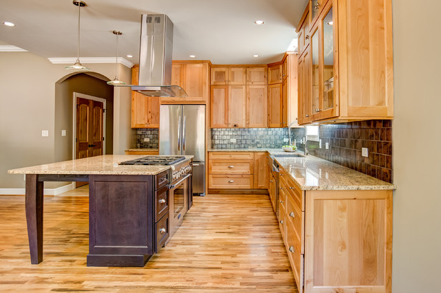 Contemporary Rustic Knotty Alder Cabinets With Espresso