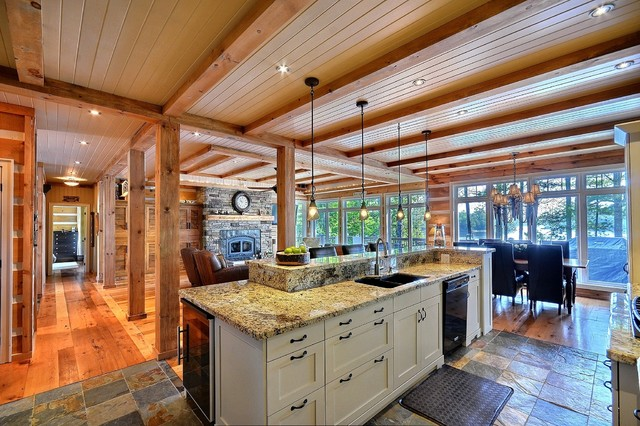 Contemporary Rustic contemporary kitchen