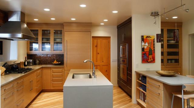 Contemporary santa fe kitchen for Santa fe kitchen