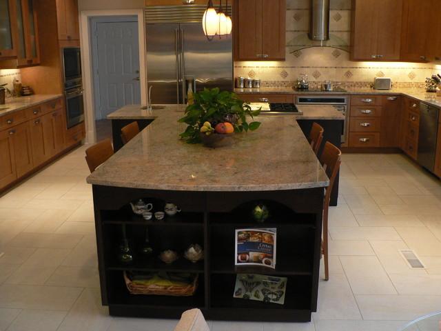 contemporary shaker door kitchen maple traditional