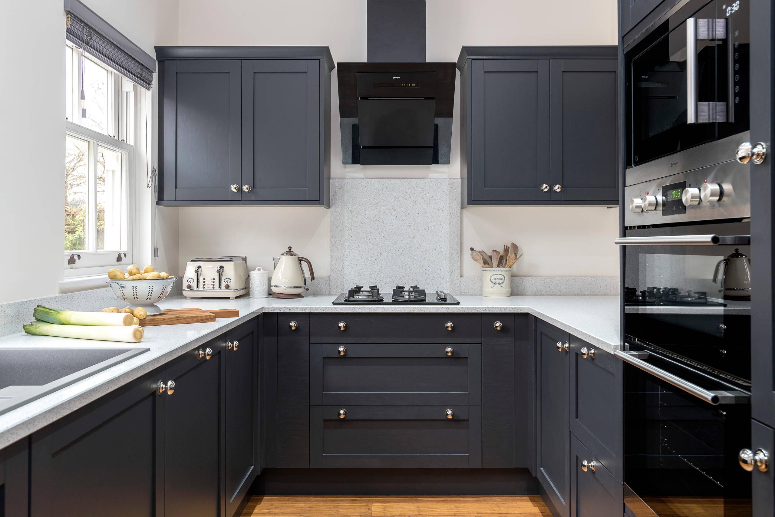Dark Shaker Cabinets Kitchen Ideas Photos Houzz
