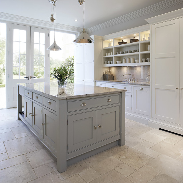 Contemporary Shaker Kitchen Transitional
