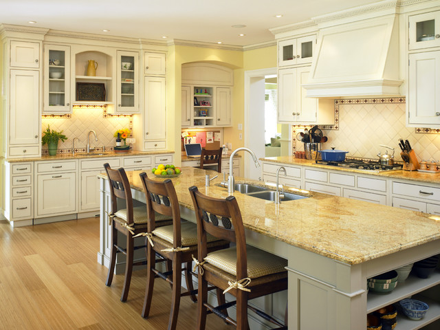 Contemporary Shingle Style Kitchen traditional kitchen