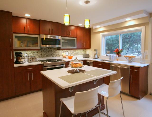 Contemporary Spaces Contemporary Kitchen Boston By Mary Porzelt Of Boston Kitchen Designs