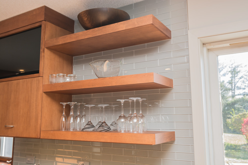 Contemporary Stained Kitchen - Transitional - Kitchen ...