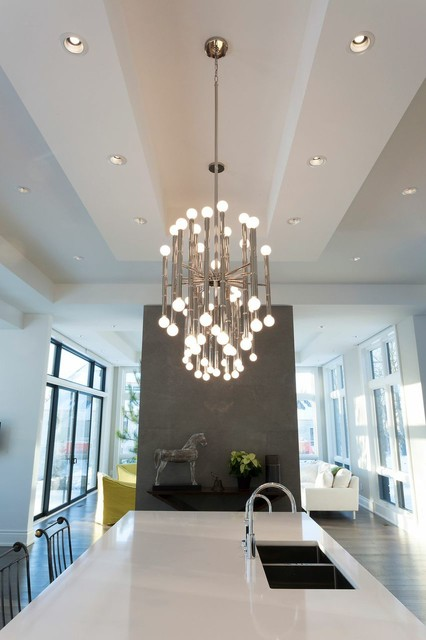 Contemporary Statement Lighting Modern Kitchen