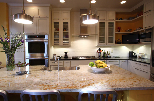 Contemporary Townhouse Kitchen Transitional Kitchen DC Metro Fascinating Townhouse Kitchen Design Ideas