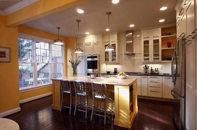 Contemporary Townhouse Kitchen Transitional Kitchen DC Metro