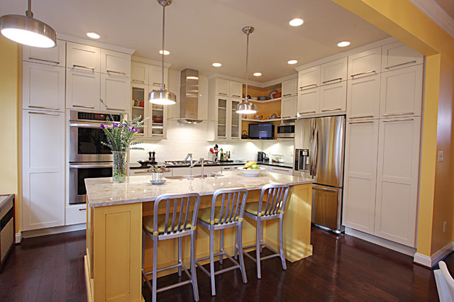 Contemporary Townhouse Kitchen - Transitional - Kitchen ...
