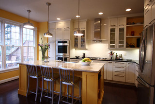 Contemporary Townhouse Kitchen Transitional Kitchen DC Metro By NVS R