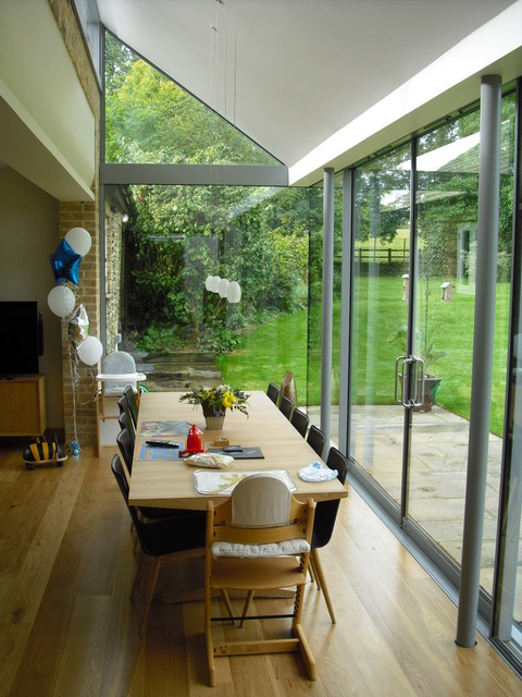 contemporary traditional kitchen garden room extension