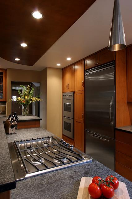 Contemporary Tudor Remodel Contemporary Kitchen