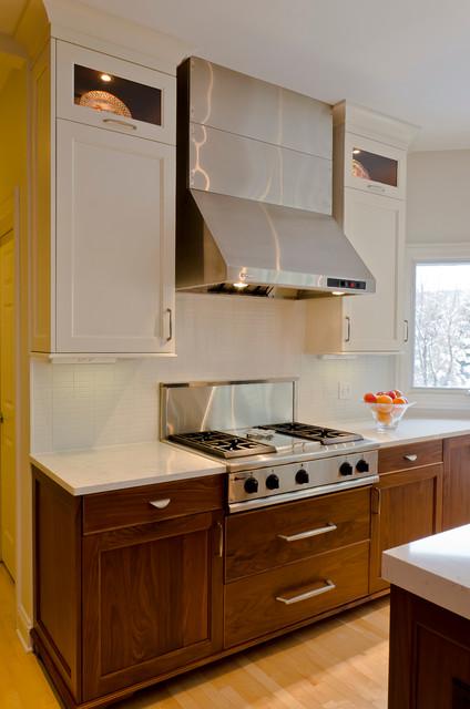 Contemporary Two Tone Kitchen Remodel Naperville IL Contemporary Kitche