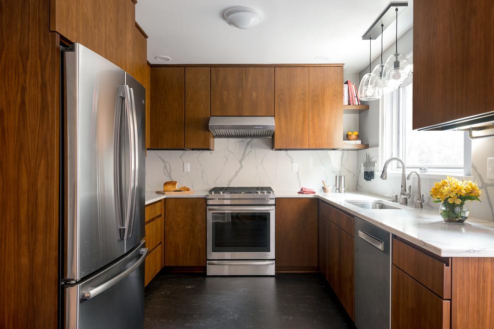 Contemporary Walnut Kitchen