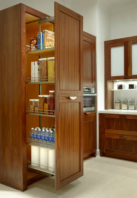 Contemporary walnut kitchen cabinets - Traditional - Kitchen - by ...