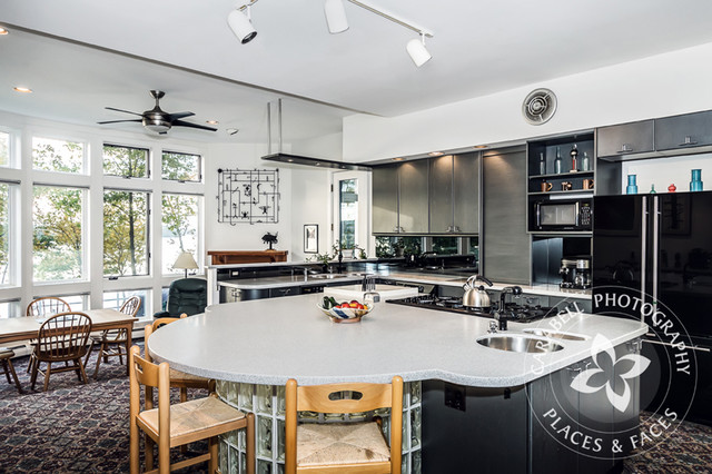 Contemporary Waterfront Newington NH contemporary-kitchen