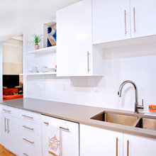 Contemporary White High Gloss Foil Kitchen Cabinets