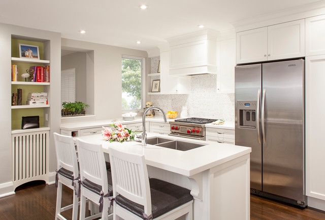 Contemporary White Kitchen - Contemporary - Kitchen - Toronto - by ...
