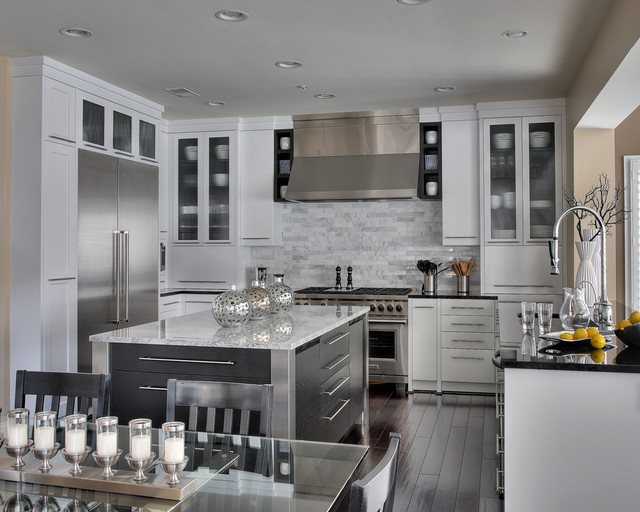 Contemporary White Kitchen Remodel - Contemporary - Kitchen - dc metro - by JACK ROSEN CUSTOM ...