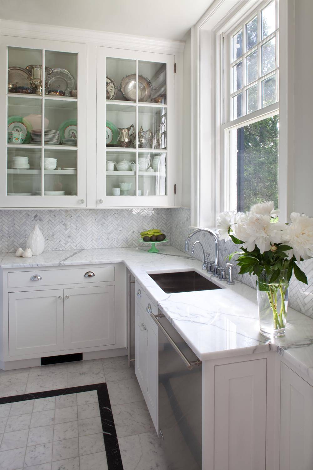 - Herringbone Tile Backsplash Houzz