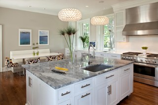 White Kitchens granite sink