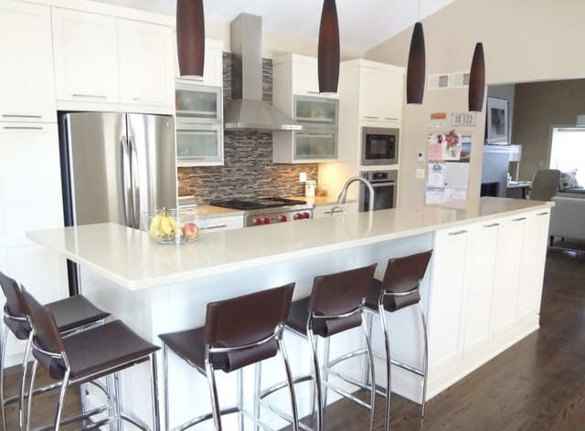 Contemporary White Shaker Kitchen Munster Indiana - Contemporary ...