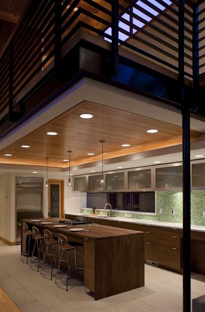 Contemporary Wooden House Design called Mulligan Residence modern kitchen