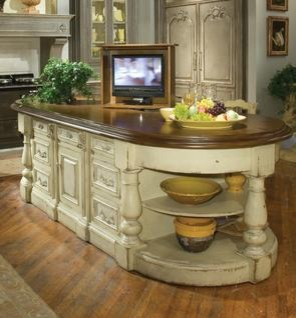continental kitchen island with lift traditional kitchen by habersham - Continental Kitchen