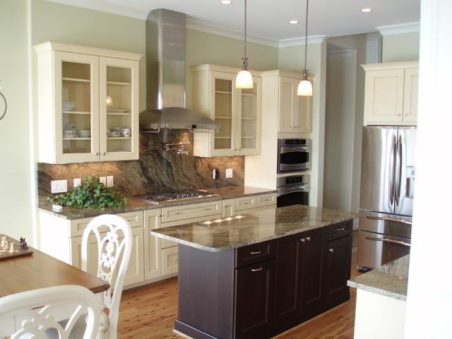 Attractive Contrasting Kitchen Cabinets Embellishment - KITCHEN ...
