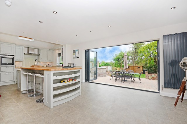 Conversion of a bungalow to house contemporary-kitchen