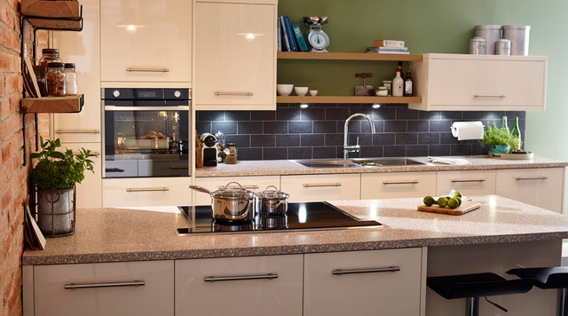 Cooke & Lewis High Gloss Cream Kitchen