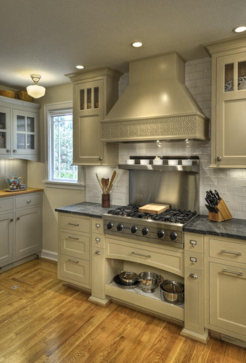 So the cabinets are shaker beige and the walls are natural wicker?