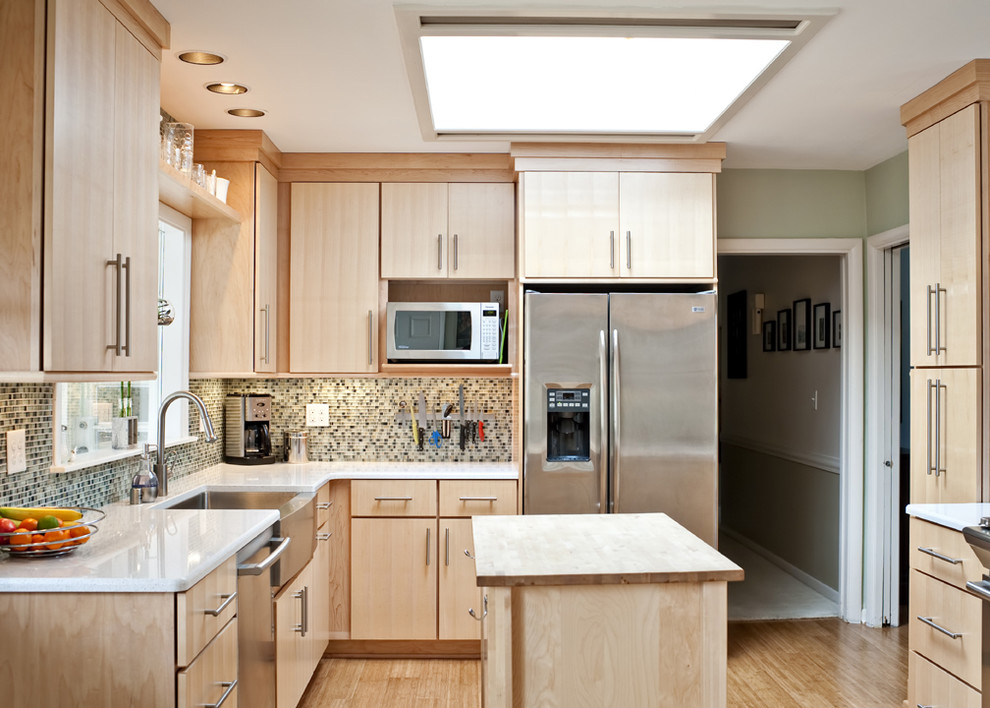 Cool and Bright Kitchen - Contemporary - Kitchen ...