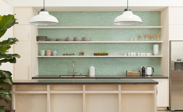 Cool And Calm Coffee Bar Contemporary Kitchen