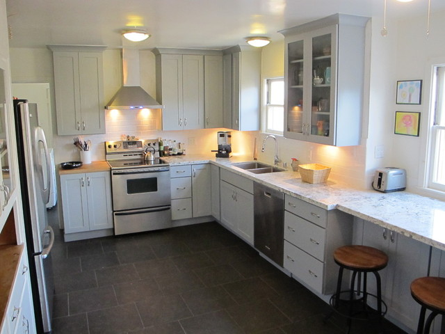 Cool Gray Blue Kitchen Contemporary Kitchen Minneapolis By