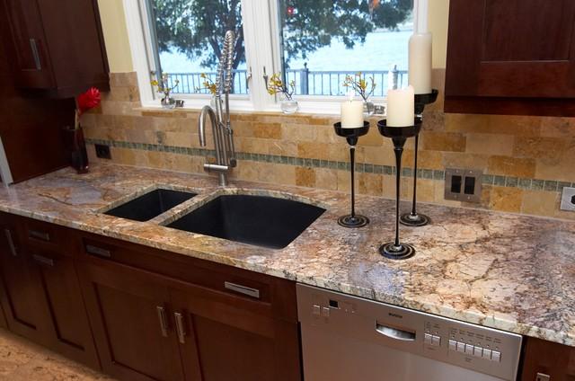 Undermount Silgranit Sink, Blanco Pro Faucet Rustic Kitchen