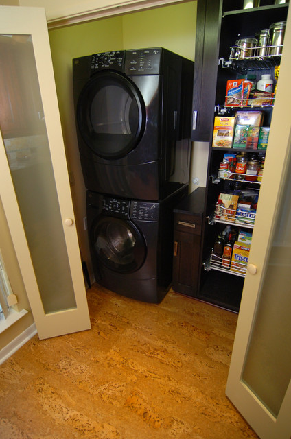 Washer Amp Dryer Pantry Contemporary Kitchen Dallas
