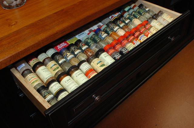spice drawer insert - Traditional - Kitchen - dallas - by Kitchen Design Concepts