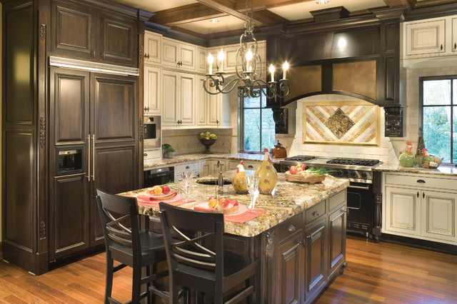 brown kitchen cabinets copper falls traditional kitchen portland by alan 12563
