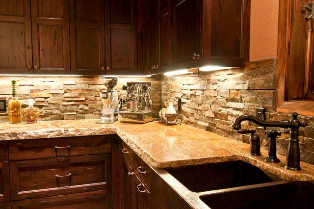 Copper Farm Sink Rustic Kitchen Other Metro By