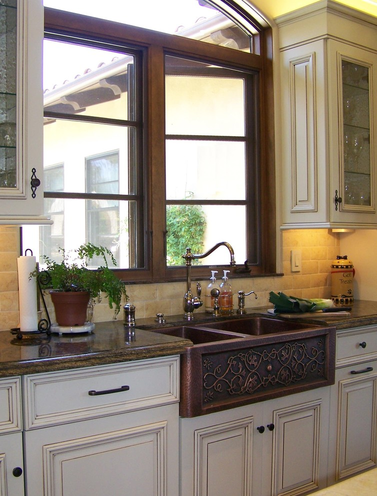 Copper Farmhouse Sink Design - Traditional - Kitchen - San ...