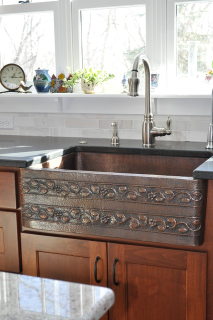 Copper farmhouse sink  Modern  Kitchen  other metro  by Modern