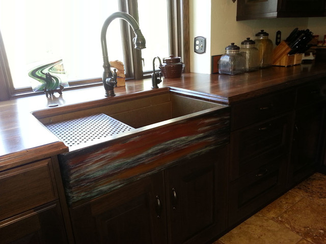 Copper Farmhouse Workstation Sink By