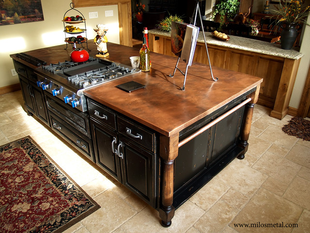 Copper Island Countertop Traditional Kitchen By Milo