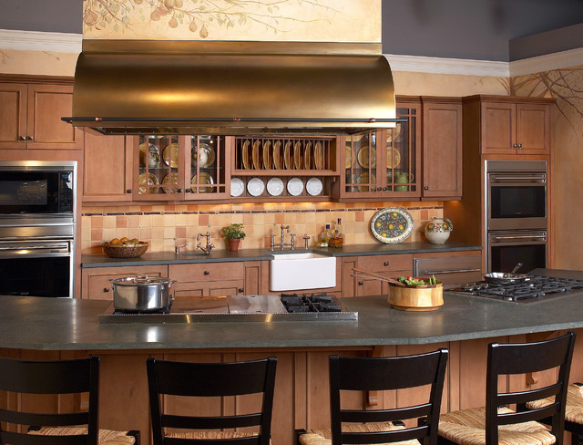 make great use of the island with a stunning stainless hood overhead