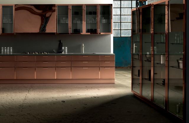 Copper kitchen cabinets modern kitchen san francisco for Aster cucine kitchen cabinets