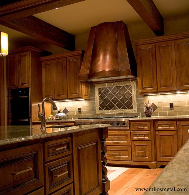 Copper Kitchen Hood Traditional Kitchen Portland