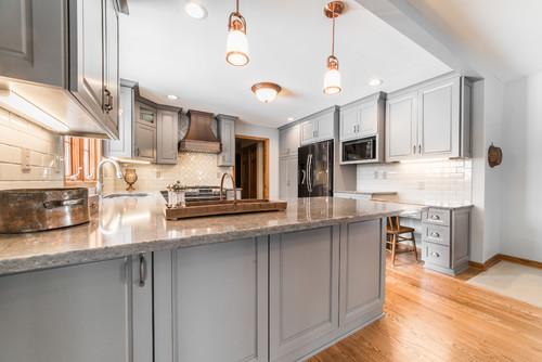 kitchen remodel with copper accents in north aurora, il